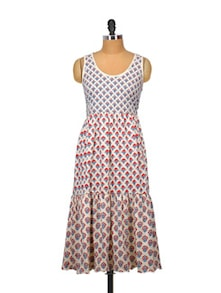 Ethnic Print Sleeveless Dress - Indricka