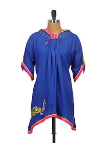 Ethnic Embroidered Hooded Top - Indricka