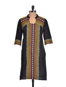Bold And Beautiful Black Kurta - Aurelia