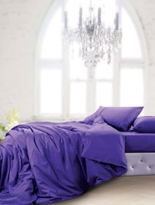 Luxe Purple Bedsheet With Pillow Covers - Oxford
