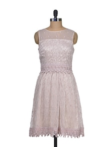 Beige Beauty Lace Dress - Shimaya