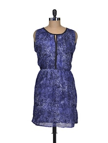 Blue And Black Sassy Dress - Shimaya