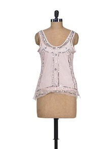 Pink Sheen Fashionable Top - Shimaya