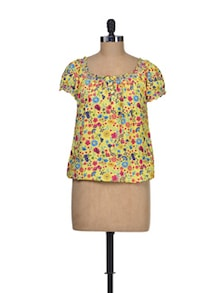 Hello Sunshine Yellow Top - Silk Weavers