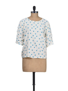 Polka Play Summer Top - Silk Weavers