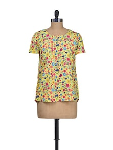 Hello Sunshine Polyester Top - Silk Weavers