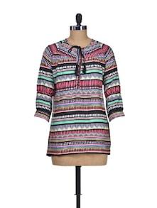 Print Parade Multicolour Top - Silk Weavers