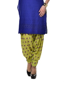 Draped Lime Ethnic Salwar - Indricka