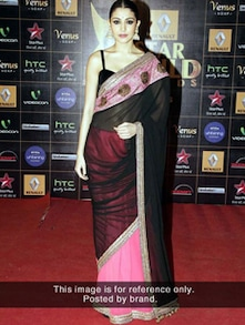 Starlet Saree In Pink And Black - Istyledeals