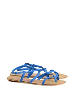 Cool Blue Strappy Sandals - CATWALK