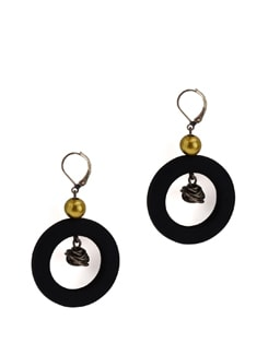 Classic Black And Metal Earrings - Eesha Zaveri; Jewellery By Design
