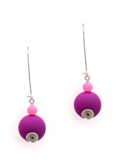 Pink And Purple Earrings - Eesha Zaveri; Jewellery By Design