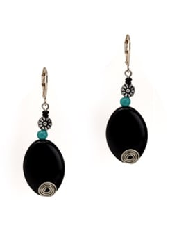 Black And Blue Earrings - Eesha Zaveri; Jewellery By Design