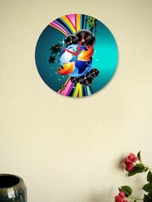 Multicoloured Round Wall Clock - BLACKSMITH