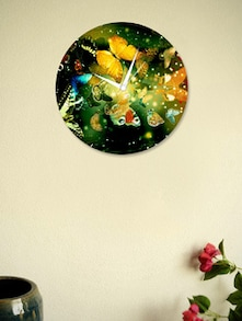 Multicoloured Butterflies Wall Clock - BLACKSMITH