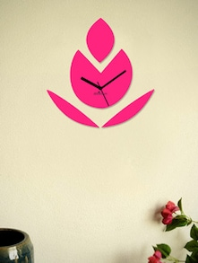 Pink Budding Flower Wall Clock - Zeeshaan