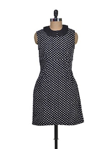 Black & White Polka Dress - Miss Chase