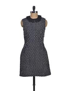 Black & White Polka Dress - Miss Chase
