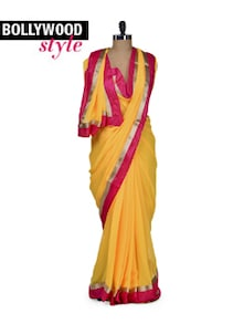 Elegant Yellow Designer Saree - Get Style At Home