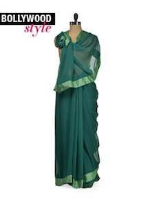 Elegant Bottle Green Saree - Get Style At Home