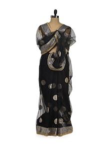 Designer Black Net Saree - Get Style At Home