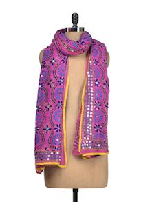 Alluring Pink Phulkari Dupatta - Vayana