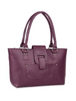 Purple Textured Tote - ALESSIA