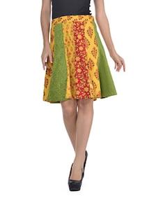 Vibrant Yellow Dyed Skirt - Desiweaves