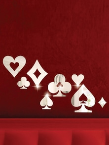 Clubs And Spades 3D Mirror Sticker - Zeeshaan
