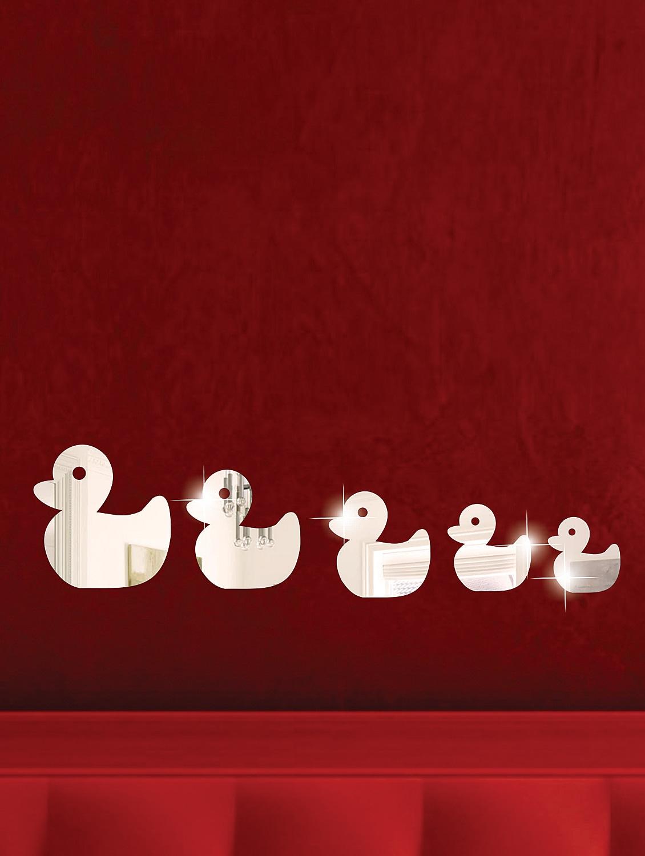 Duck Family 3D Mirror Sticker - Zeeshaan
