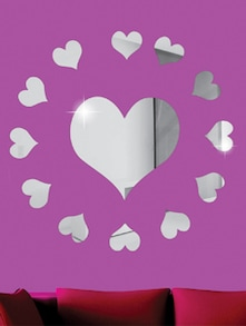 Circling Hearts 3D Mirror Sticker - Zeeshaan