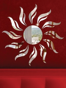 Sun 3D Mirror Sticker - Zeeshaan