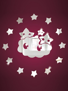 Cloud And The Stars 3D Mirror Sticker - Zeeshaan