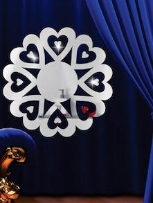 Cute Hearts 3D Mirror Sticker - Zeeshaan
