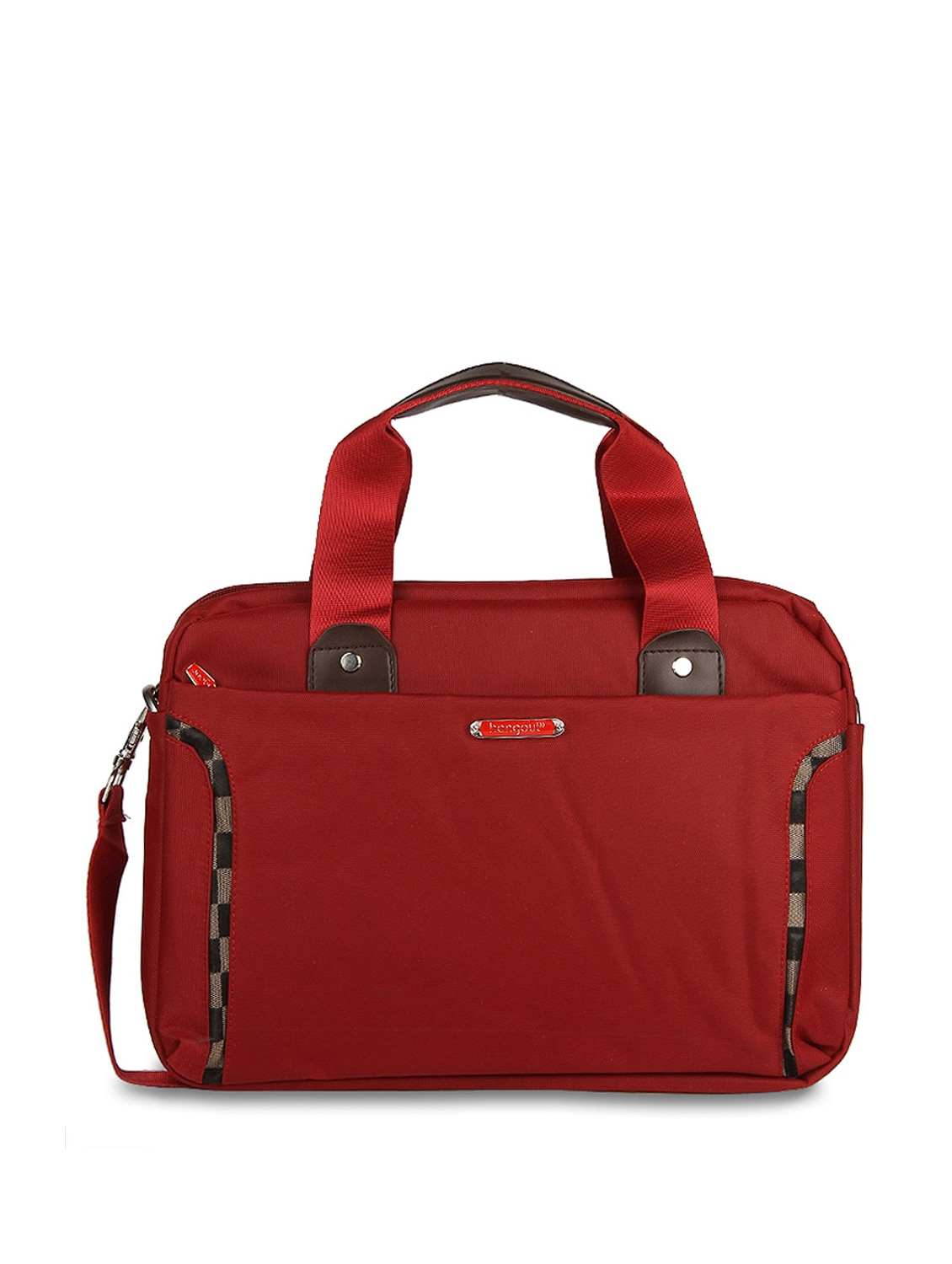 "11"" Red 'Hang Out' Laptop Bag - ALESSIA"