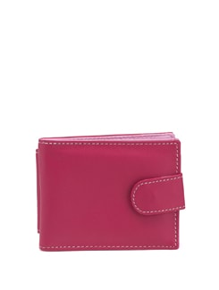 Pink Leatherette Wallet With Mobile Phone Pocket - ALESSIA