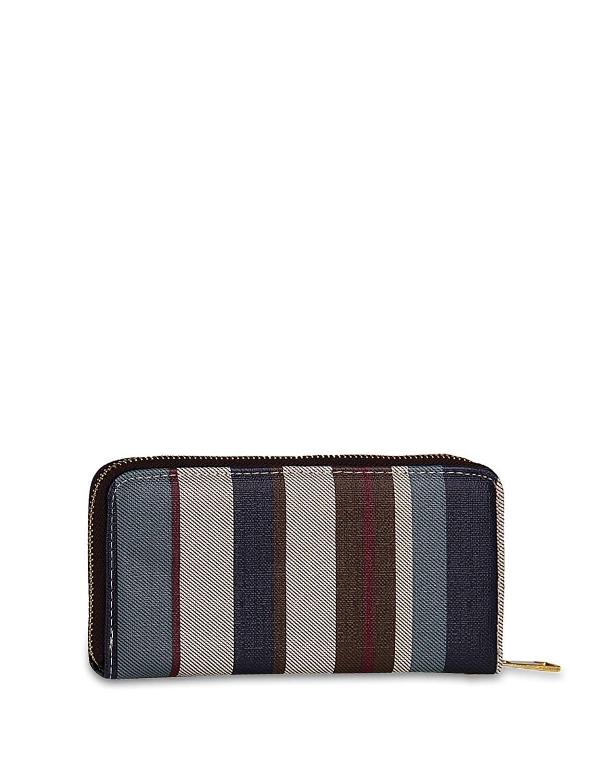 Stylish Striped Wallet - ALESSIA 6775