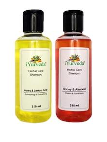 Honey Almond  Shampoo & Honey Lemon Juice Shampoo - Pack Of 2 - IYurveda
