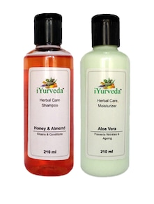 Honey Almond Shampoo & Aloe Vera Moisturiser Pack Of 2 - iYurveda