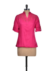 Fuchsia Lace Top - QUEST