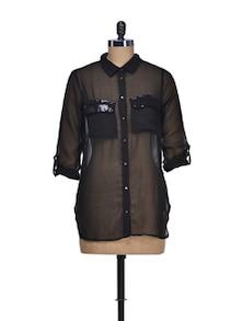 Sheer Black Shirt - QUEST