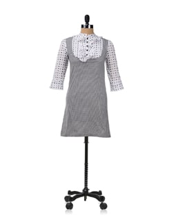 Mary Jane Check And Polka Dress - RIGOGLIOSO