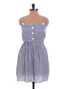 Chequered Strappy Dress - Nangalia Ruchira