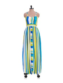 Strappy Multicolour Maxi Dress - Nangalia Ruchira