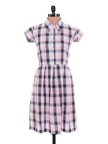 Chequered Shirt Dress - Nangalia Ruchira