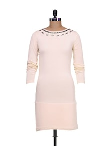 Knitte Baby Pink Dress - Purplicious