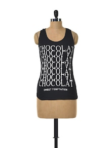 Chocolate Tank Top With Lacy Back - Deal Jeans