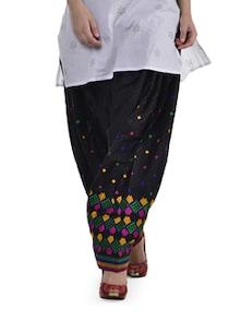 Black Phulkari Patiala Salwar - Home Of Impression