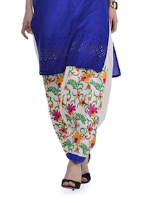Colorful Floral Patiala Salwar - Home Of Impression