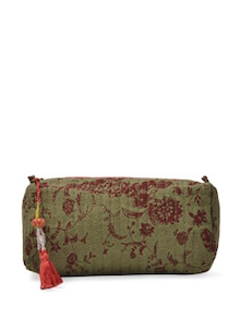 Multipurpose Green Printed Bag - ETHNIC